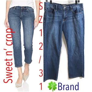 Lucky brand sweet n crop jeans capris Size 12/31